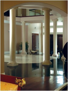 Old houses do not require full renovation. All you have to do is to enhance  it using interior columns like Italian marble columns, onyx columns, ...